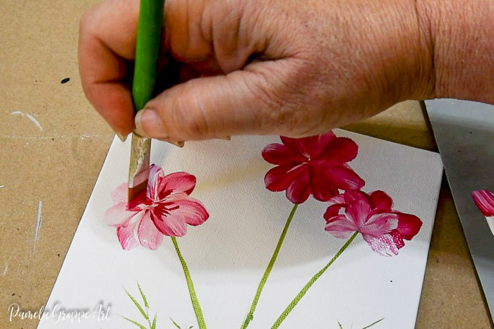 Painting details of cosmos flower