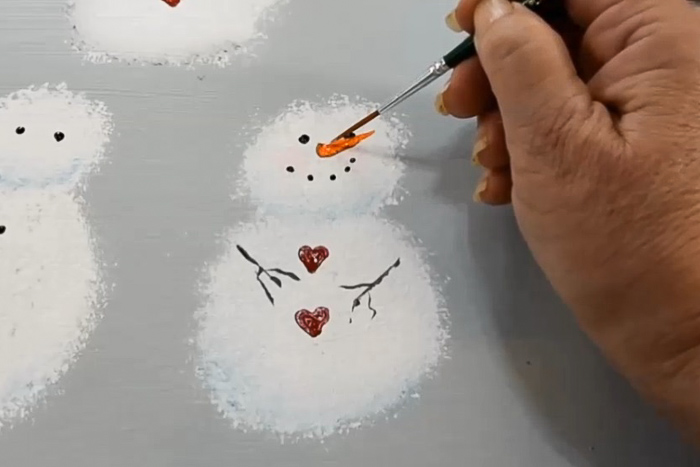 paint the snowman scarf
