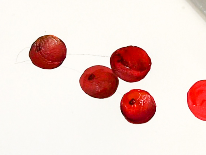 add divet for stem, how to paint cherries, pamela groppe art