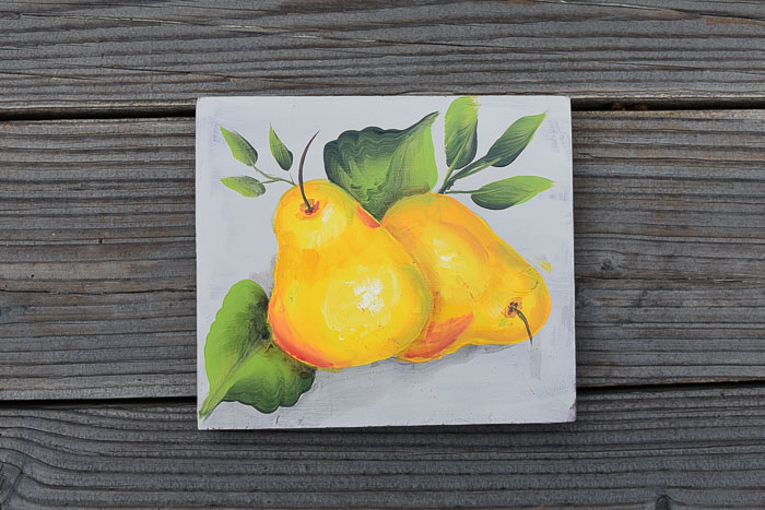 How to Paint Pears