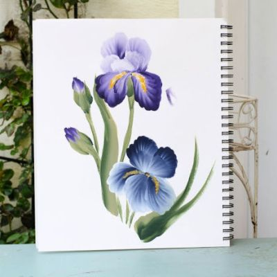 Acrylic painting tutorials, iris painting in acrylics,