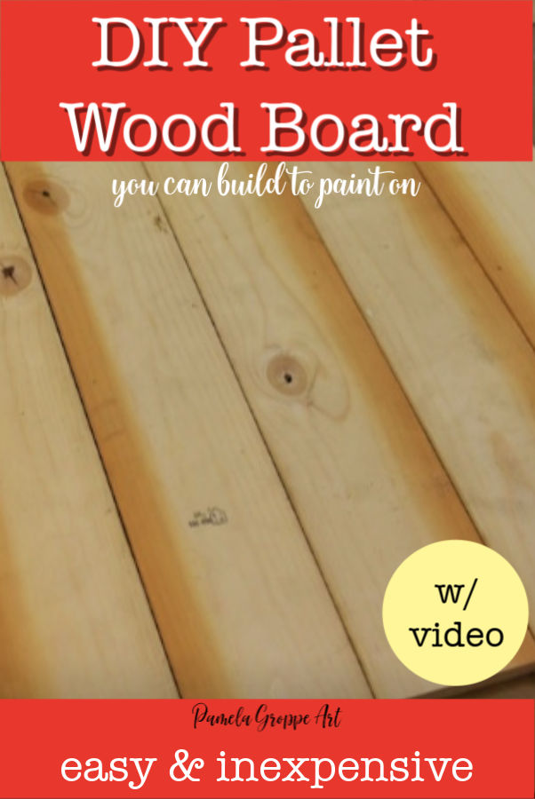 wood boards with text overlay, build a pallet wood board to paint with video