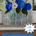 Painting of Mason Jars with text, easy painting tutorial, Learn to Paint a Mason Jar, Pamela Groppe Art