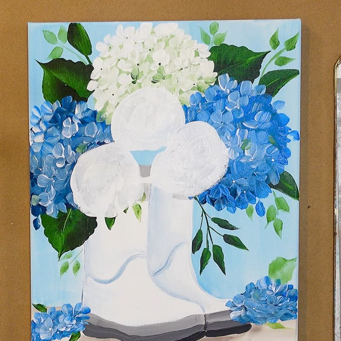 white circles for under painting of roses