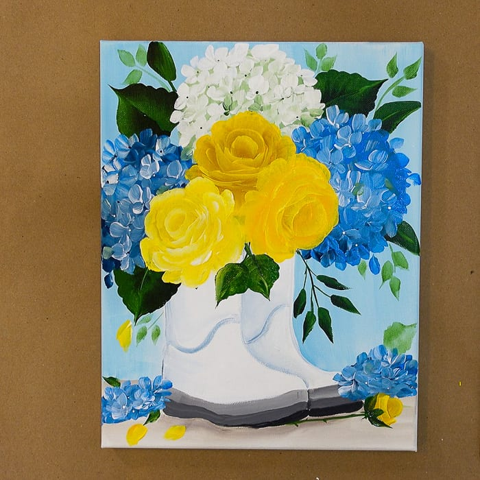 Paint Yellow Roses in Boots