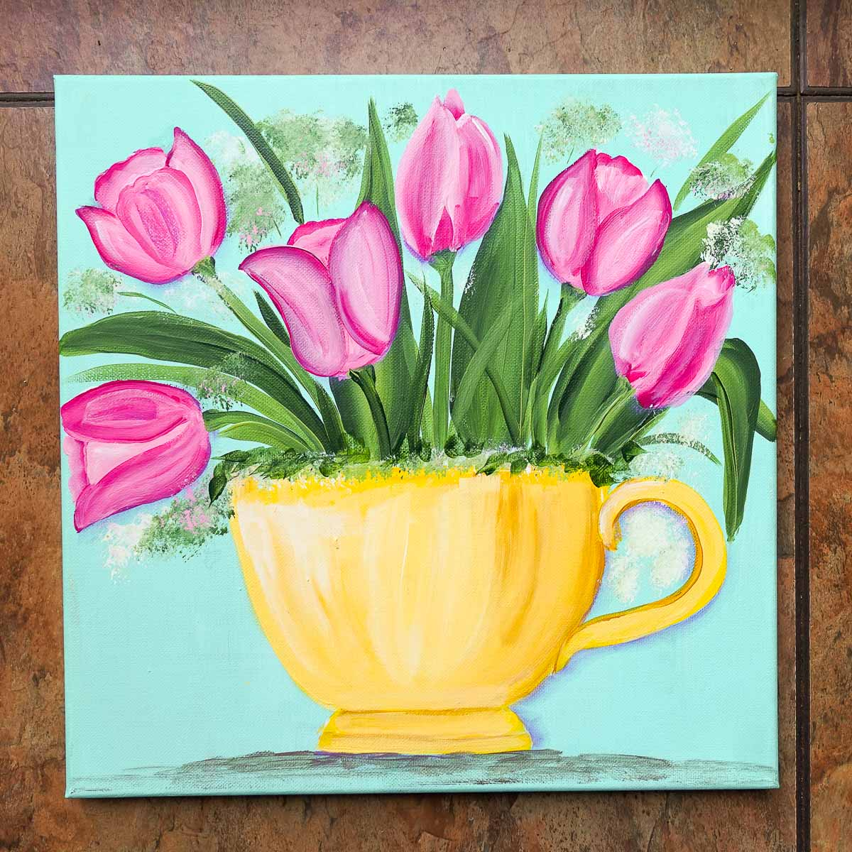 Paint Tulips in a Teacup