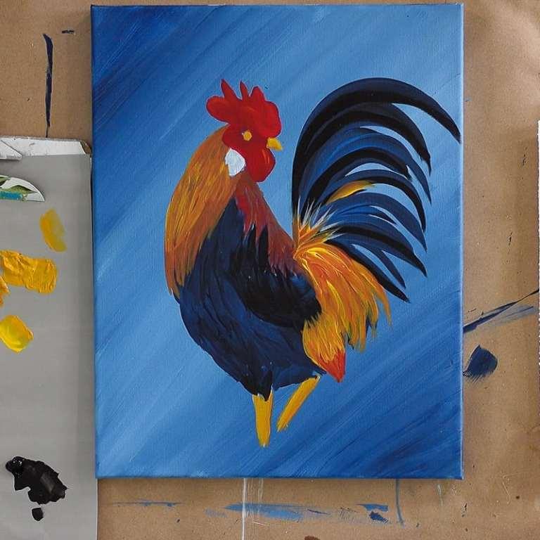 Paint Golden Feathers