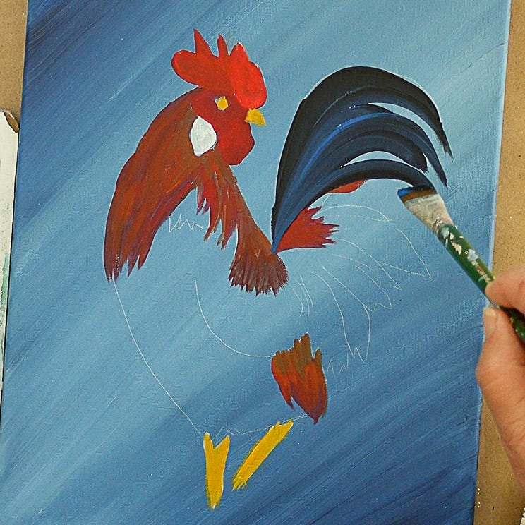 Paint Rooster tail