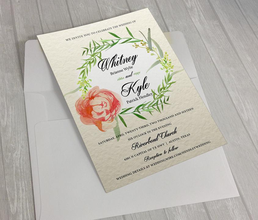 Hendley: Wedding Invitation | Pamela Printing Company