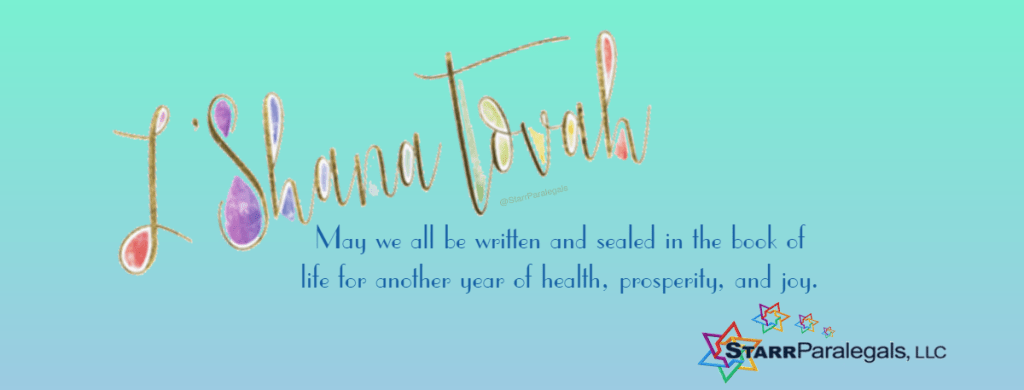 May we all be written and sealed in the book of life for another year of health, prosperity, and joy.