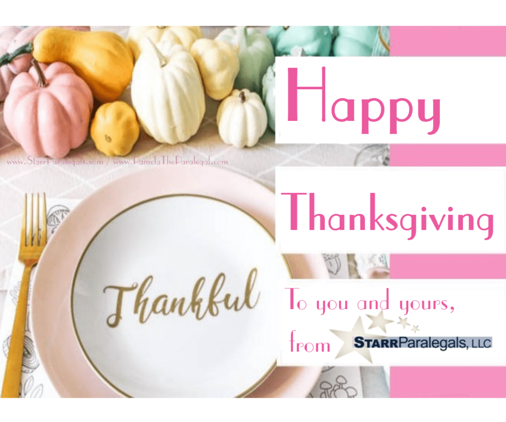 Happy Thanksgiving in pinks & pastel