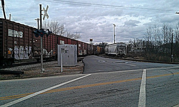 Train Crossing Swamp Rabbit Trail