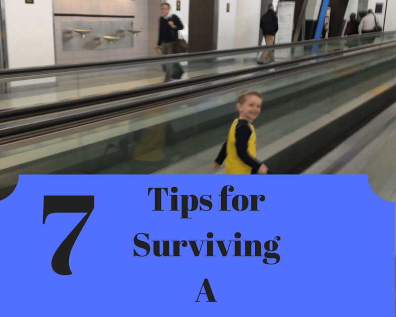 7 Tips For Surviving a Flight Delay With Kids