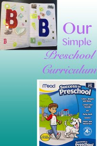 Our Simple Preschool curriculum