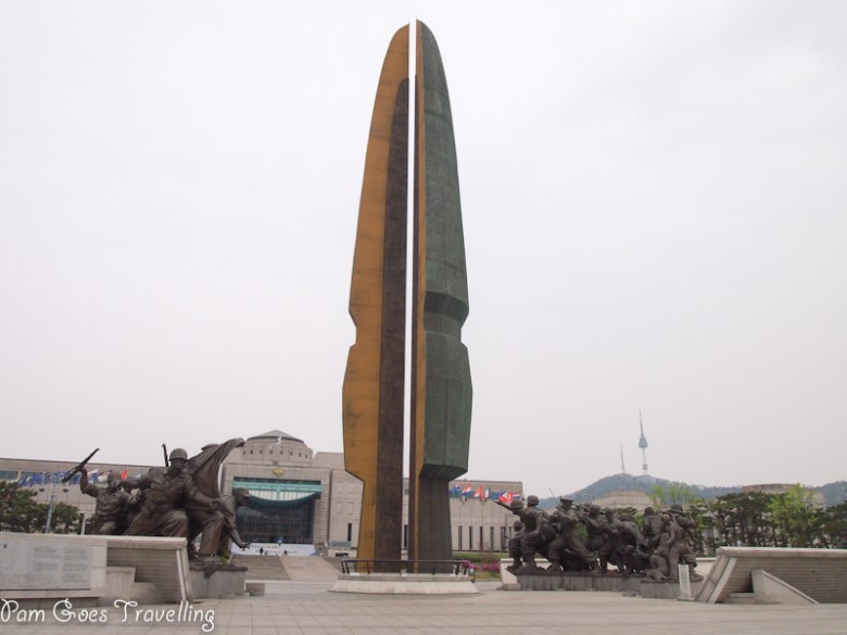 Tower of Korean War - It  signifies a bronze sword and a tree of life. Bronze sword symbolises time-honoured, history and warrior spirits while tree of life represents  prosperity and peace of Korean