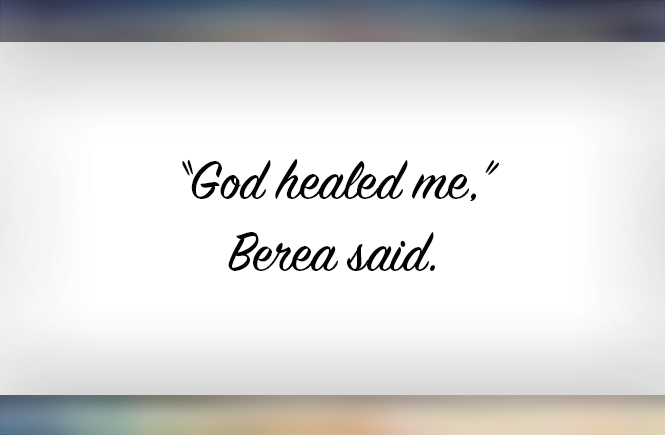 Brei: God healed me!
