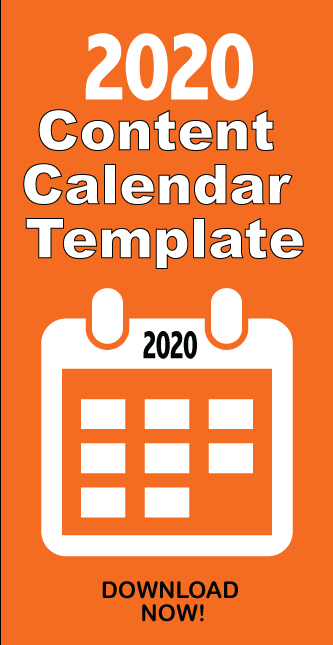 2020 Content Calendar Template Social Media Digital Marketing