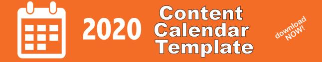 2020 Content Marketing Calendar Template