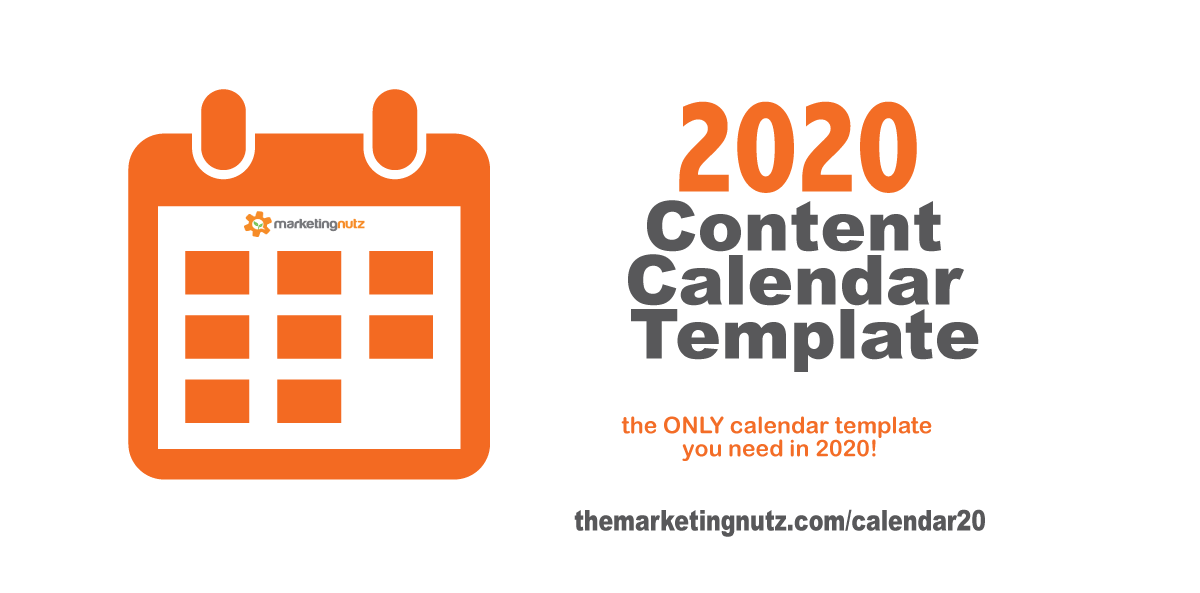 2020 Content Marketing Strategy Calendar Template