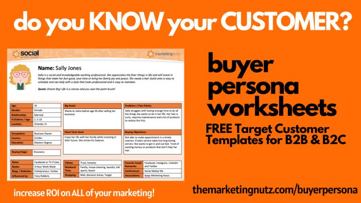 Buyer Persona Template Worksheet B2B B2C