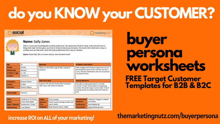Buyer Persona Template Worksheet B2B B2C