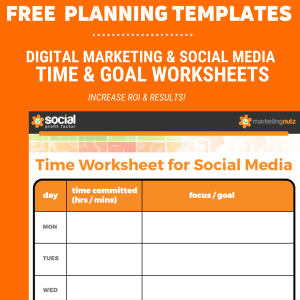 Digital Marketing Social Media Planning Worksheets Templates