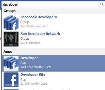 facebook developer app