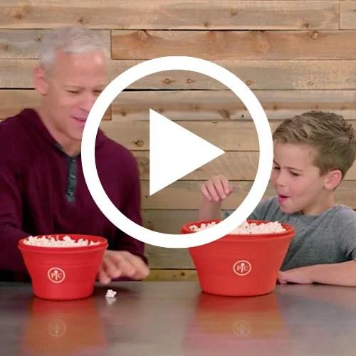 family size microwave popcorn maker