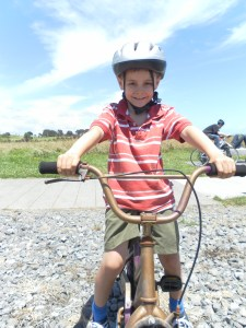 Jayden on his bike