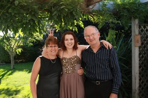 Mum, Dad and daughter x