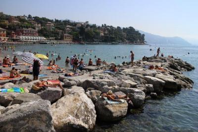 The beach at Santa Margherita