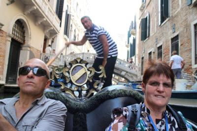 Our Gondola man with Judy and Paul