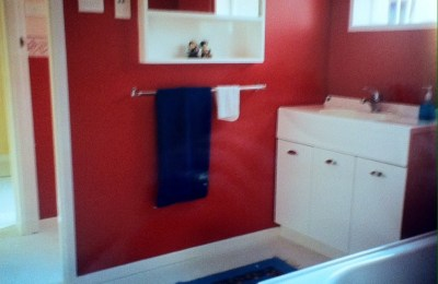 And why did I paint the bathroom that colour?