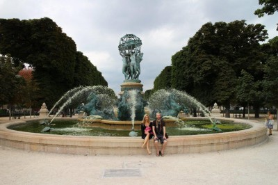 Fountain and statues