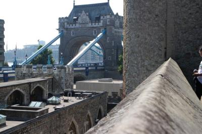The Tower bridge from the Tower of London