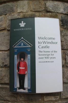 Sign at Windsor