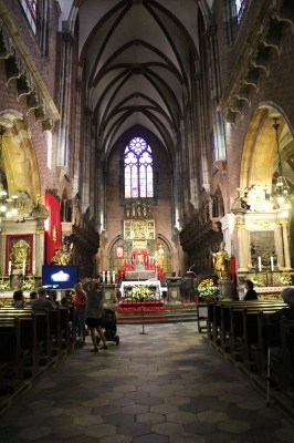 Inside a cathedral in Wroclaw
