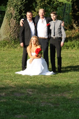 Three of my boys with the beautiful bride!