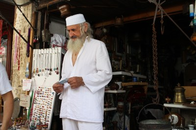 A very Turkish man at his shop