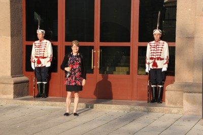Me posing with Bulgarian guards