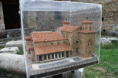 And we wandered to the next church. Here is a model of it