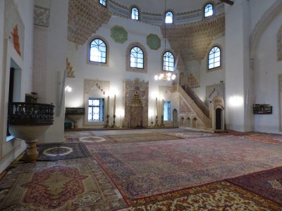 The inside of the Mosque