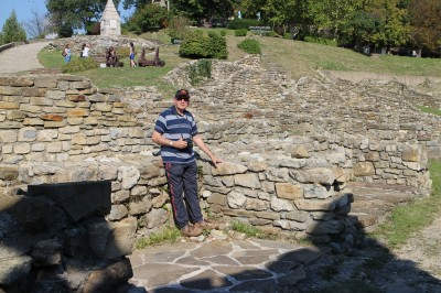 Len at the fortress ruins