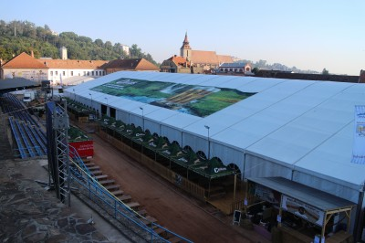 The huge tent for Octoberfest
