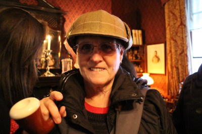 Judy with Sherlocks hat and pipe :-)