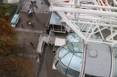 And from the wax museum it was onto the London Eye! What an amazing experience, even in the rain!