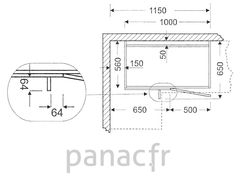 meuble bas de cuisine d angle dn 100 np