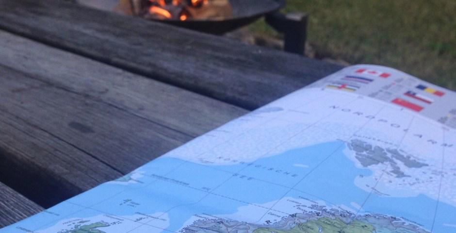 Reiseplanung mit der Karte - auf Finnland wird die Panamericana