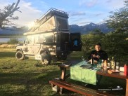 Unser Nachtlager am Lago Roca