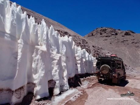 Schnee auf dem Paso de Agua Negra
